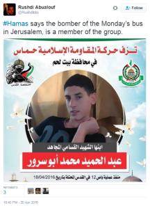 Abualouf tweet Jlem bus bomber